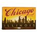 <strong>iCanvasArt</strong> 'Chi-Town - Chicago, Illinois' by Anderson Design Group Vintage Advertisement on Canvas