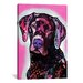<strong>iCanvasArt</strong> 'Black Lab' by Dean Russo Graphic Art on Canvas