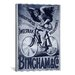 <strong>iCanvasArt</strong> Bincham and Co. Bicycle Vintage Advertisement on Canvas