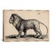 <strong>iCanvasArt</strong> 'A Lion Standing' by Wenceslaus Hollar Graphic Art on Canvas