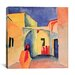 "<strong>""A Glance Down an Alley"" Canvas Wall Art by August Macke</strong> by iCanvasArt"