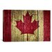 <strong>Canadian Flag #2 Graphic Art on Canvas</strong> by iCanvasArt