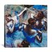 iCanvasArt 'Blue Dancers 1899' by Edgar Degas Painting Print on Canvas