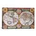 <strong>Antique Map Terre Universelle, 1594 Graphic Art on Canvas</strong> by iCanvasArt
