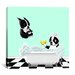 <strong>iCanvasArt</strong> 'Bath Tub BT' by Brian Rubenacker Graphic Art on Canvas