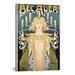 <strong>iCanvasArt</strong> Bec AuernAdvertising Vintage Poster  Canvas Print Wall Art