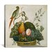 "<strong>iCanvasArt</strong> ""Basket of Fruit with Parrot"" Canvas Wall Art by Jung Ho Hwang"