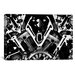 <strong>iCanvasArt</strong> Cars and Motorcycles Engine Front Grayscale Graphic Art on Canvas
