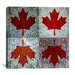 <strong>iCanvasArt</strong> Canadian Flag, Maple Leaf #7 Graphic Art on Canvas