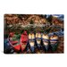 iCanvasArt 'Canoe Color' by Bob Larson Photographic Print on Canvas