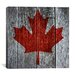 iCanvasArt Canadian Flag, Maple Leaf Graphic Art on Canvas