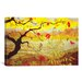 iCanvasArt 'Apple Tree with Red Fruit' by Paul Ranson Painting Print on Canvas