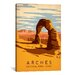 <strong>iCanvasArt</strong> 'Arches National Park, Utah' by Anderson Design Group Vintage Advertisement on Canvas