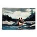 <strong>iCanvasArt</strong> 'Canoe in The Rapids 1897' by Winslow Homer Painting Print on Canvas