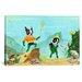 iCanvasArt 'Aqua Terrier Print' by Brian Rubenacker Graphic Art on Canvas