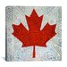 iCanvasArt Canadian Flag, Maple Leaf #5 Graphic Art on Canvas