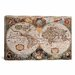 <strong>iCanvasArt</strong> 'Antique World Map' by Henricus Hondius Graphic Art on Canvas