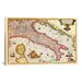 <strong>Antique Maps of Italy Graphic Art on Canvas</strong> by iCanvasArt