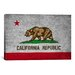 iCanvasArt California Flag, Grunge Graphic Art on Canvas