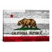 <strong>California Flag, Grunge Wood Boards Graphic Art on Canvas</strong> by iCanvasArt