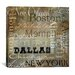 """<strong>""""Cities of The World I"""" Canvas Wall Art from Color Bakery</strong> by iCanvasArt"""