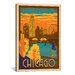 <strong>iCanvasArt</strong> 'Chicago, Illinois' by Anderson Design Group Vintage Advertisement on Canvas