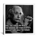 <strong>iCanvasArt</strong> Albert Einstein Quote Canvas Wall Art