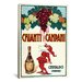 <strong>iCanvasArt</strong> Chianti Campani - Small Vintage Advertisement on Canvas