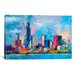 <strong>iCanvasArt</strong> 'Chicago 5' by Richard Wallich Painting Print on Canvas