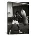 iCanvasArt Muhammad Ali Training Photographic Print on Canvas