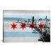 <strong>iCanvasArt</strong> Chicago Flag, Chicago Skyline Graphic Art on Canvas