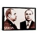 <strong>iCanvasArt</strong> Alphonse Gabriel Al Capone Mugshot 2 - Chicago Gangster Outlaw Painting Print on Canvas