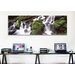 iCanvasArt Panoramic Cascading Waterfall in a Rainforest, Olympic National Park Photographic Print on Canvas
