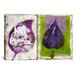 "<strong>""#2 Color Leaves"" by Luz Graphics Graphic Art on Canvas</strong> by iCanvasArt"