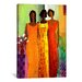 <strong>iCanvasArt</strong> 'Girlfriends' by Keith Mallett Painting Print on Canvas