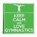 <strong>Keep Calm and Love Gymnastics Textual Art on Canvas</strong> by iCanvasArt