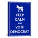 <strong>iCanvasArt</strong> Keep Calm and Vote Democrat Textual Art on Canvas