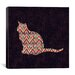 iCanvasArt 'Ikat Cat' by Budi Satria Kwan Graphic Art on Canvas