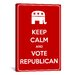 <strong>iCanvasArt</strong> Keep Calm and Vote Republican Textual Art on Canvas