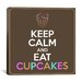 <strong>iCanvasArt</strong> Keep Calm and Eat Cupcakes Textual Art on Canvas