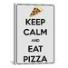 iCanvasArt Keep Calm and Eat Pizza Textual Art on Canvas