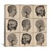 <strong>Human Head Anatomy Collage Canvas Wall Art</strong> by iCanvasArt