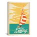 <strong>iCanvasArt</strong> I'd Rather Be Sailing by Anderson Design Group Vintage Advertisement on Canvas