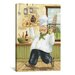 <strong>iCanvasArt</strong> Happy Chef II by Daphne Brissonnet Painting Print on Canvas