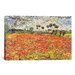 <strong>iCanvasArt</strong> 'Field of Poppies' by Vincent van Gogh Painting Print on Canvas