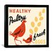 iCanvasArt Healthy Poultry-Fresh Eggs Advertising Vintage Poster