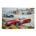 <strong>iCanvasArt</strong> Cars and Motorcycles Ferrari Vs. Mercedes Vintage Drawing Painting Print on Canvas