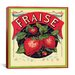 <strong>Fraise Strawberries Vintage Crate Label Canvas Wall Art</strong> by iCanvasArt