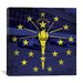 iCanvasArt Indiana Flag, Indianapolis Motor Speedway with Grunge Graphic Art on Canvas