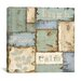 iCanvasArt Inspirational Patchwork III from NBL Studio Collection Canvas Wall Art